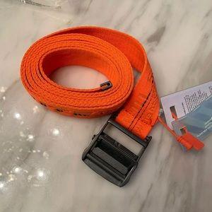 Off-white industrial belt orange
